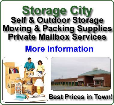 Storage City mini storage center.  Residential and commercial storage and boat and rv parking.